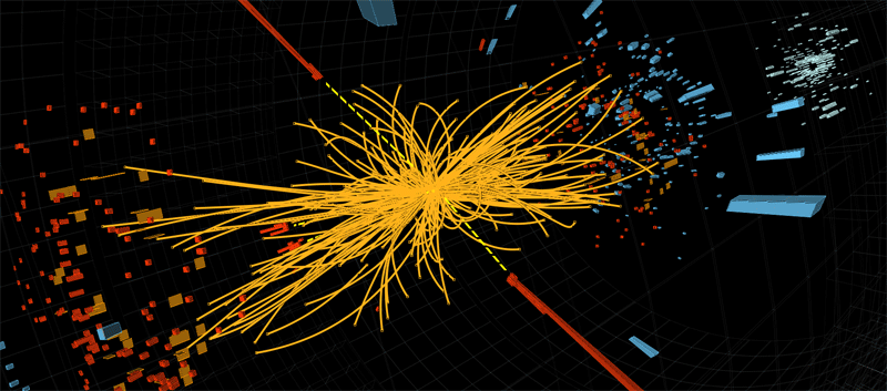 A proton-proton collision that may have produced Higgs boson. © CERN 2012