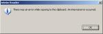 Acrobat Reader - internal error